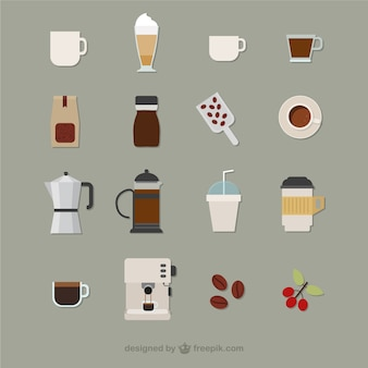 Coffee icons Free Vector