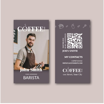 Coffee id card template