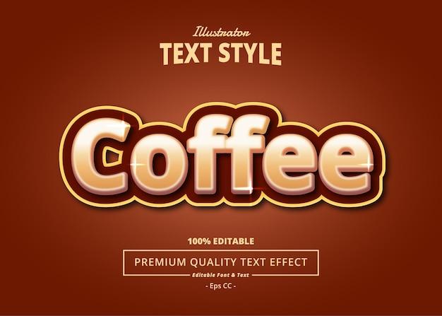 Coffee illustrator text effect