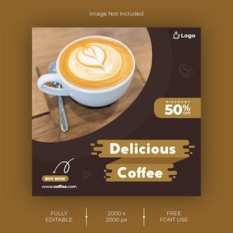 Coffee instagram post template