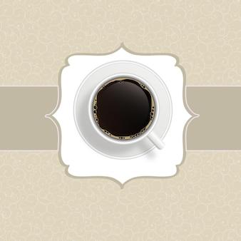 コーヒーの招待状の背景。ベクトルイラスト。 eps10。