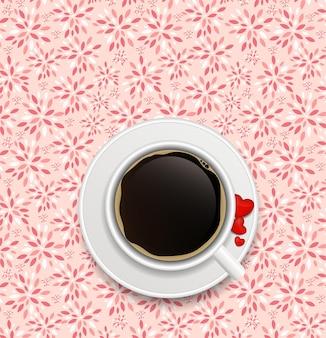 コーヒーの招待状の背景ベクトル図