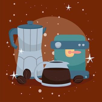 コーヒーケトルと機械