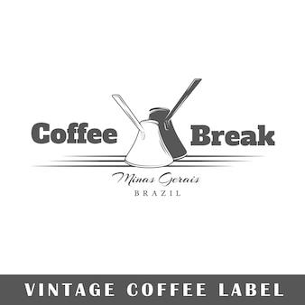 Этикетка кофе, изолированные на белом фоне