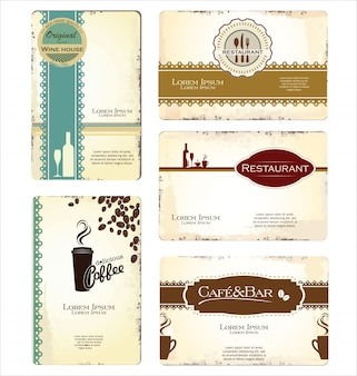 Coffee label set