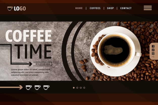 Coffee landing page template