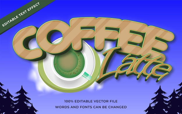 Coffee latte text effect for illustrator
