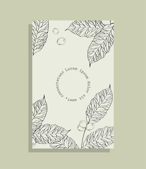 紙フレームをテーマに豆とコーヒーの葉