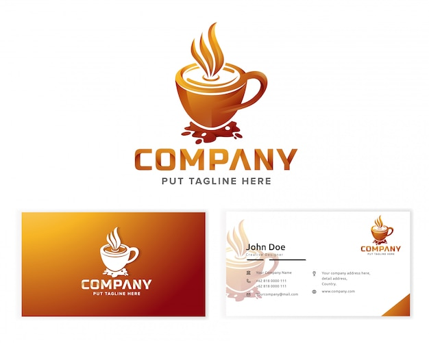 Coffee logo for business company