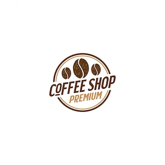 Coffee logo for cafe resto and product label, food drink