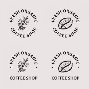 Coffee logo collection set