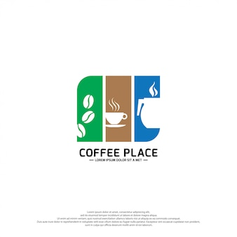 Coffee logo design template.