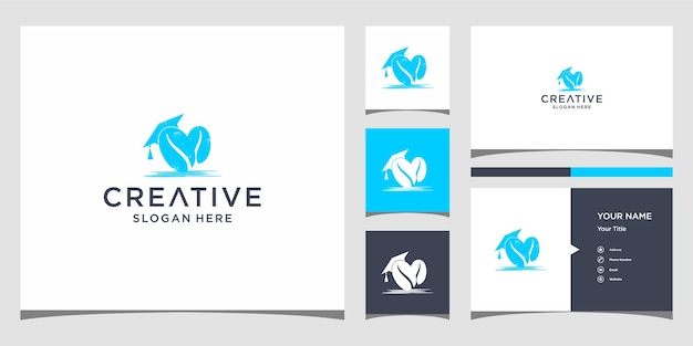 Coffee logo design with business card template