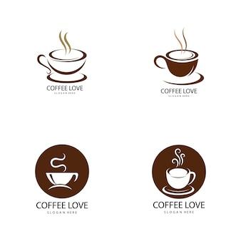 コーヒーのロゴアイコンベクトルイラストテンプレート