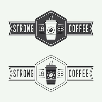 Coffee logo set