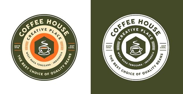다른 색상의 커피 로고 템플릿 디자인