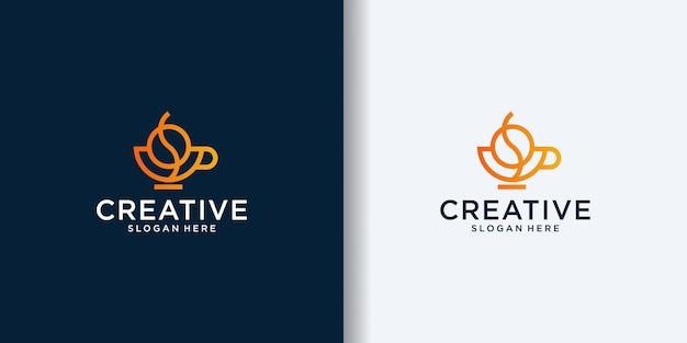 Дизайн шаблона логотипа кофе