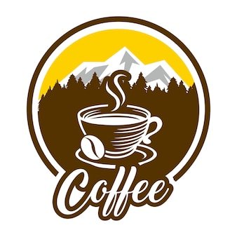 Coffee logo template set
