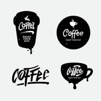 Coffee logo and typography template design