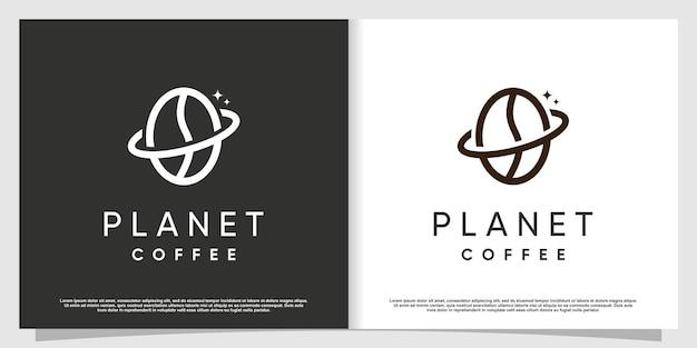 크리에이 티브 요소 프리미엄 벡터 파트 7 커피 로고