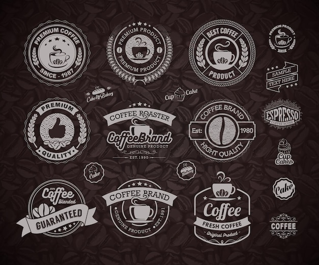 Coffee logos badges and labels element