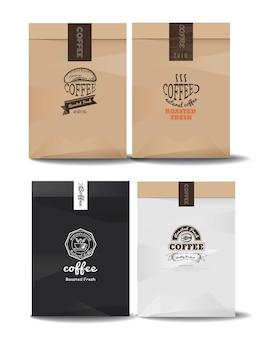 Coffee logos for packaging