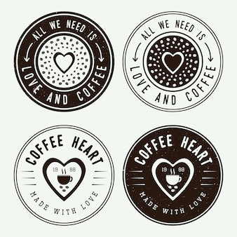 Coffee logos, labels