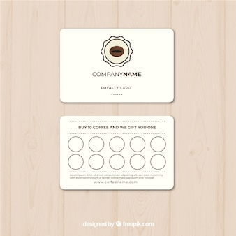Coffee loyalty card template