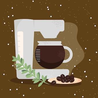 コーヒーマシンと穀物