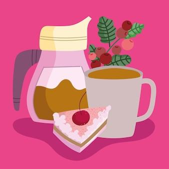 커피 메이커와 컵