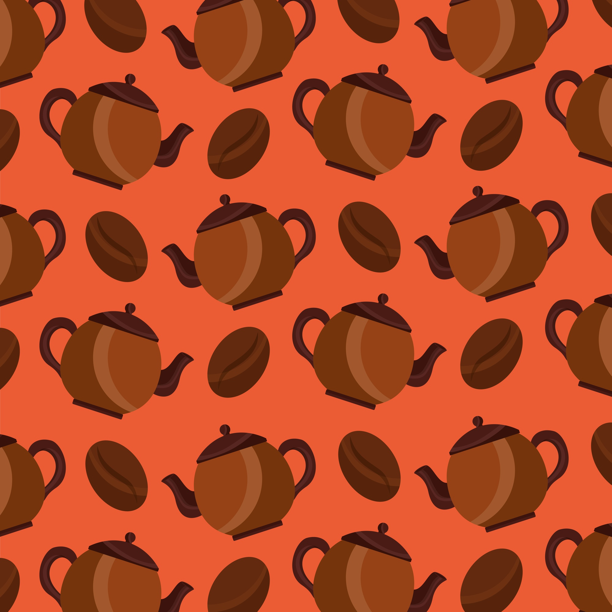 Coffee maker and seeds grain aroma background