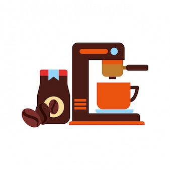 Coffee maker machine cup jat and seeds