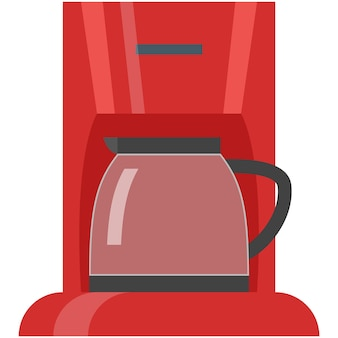 Coffee maker machine vector icon illustration on white