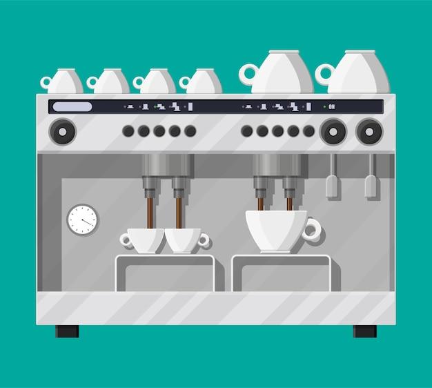 Кофеварка с чашками.