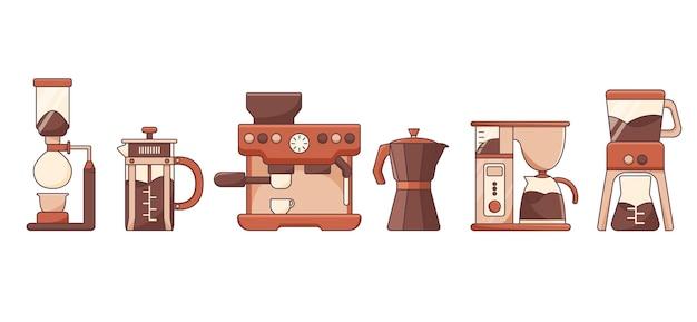 Кофеварки в набросках