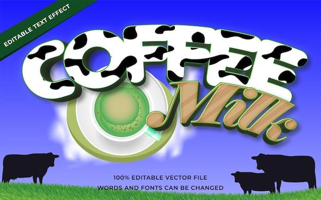 Coffee milk text effect for illustrator
