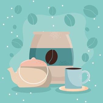 Coffee mug and bag