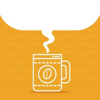 吹き出し付きコーヒーマグのイラスト