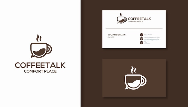 커피잔 로고 디자인