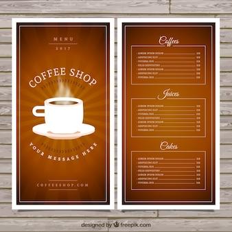 Coffee mug menu