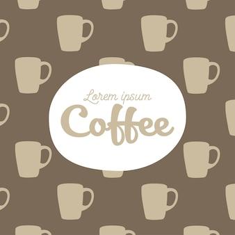 Coffee mugs background theme
