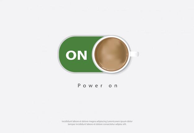 テンプレート上のコーヒー