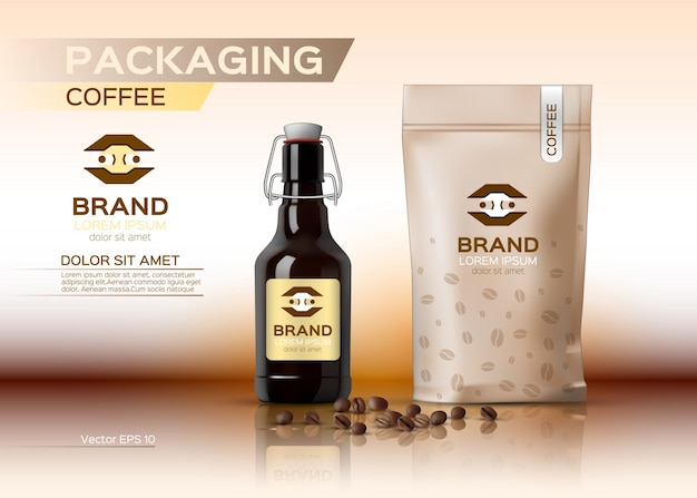 Coffee packaging mock up