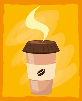 Coffee paper cup cartoon