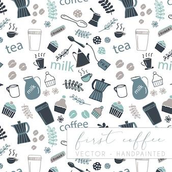 Coffee pattern design