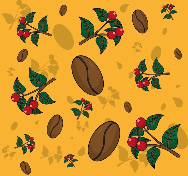 Coffee patterns background