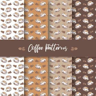 Coffee patterns set design pack