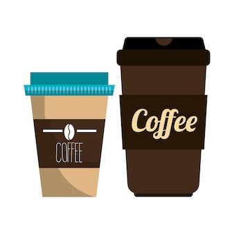 Coffee plastic portable container graphic
