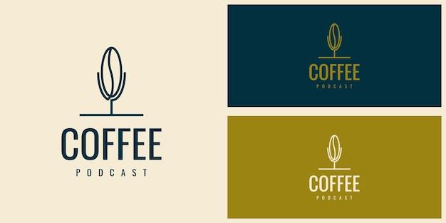 커피 팟캐스트 로고 디자인