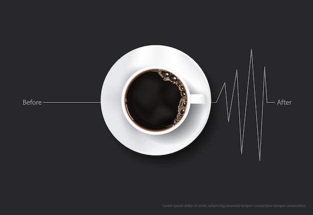 커피 포스터 광고 전단지 일러스트